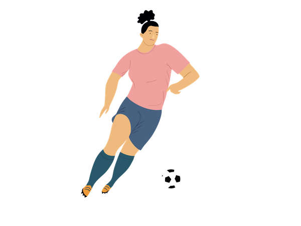 Soccer player playing in match Illustration
