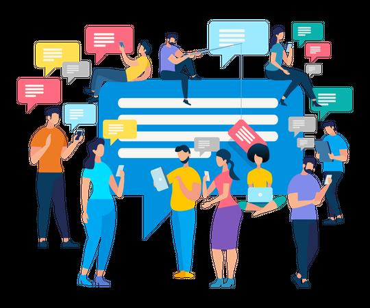 Social communication Illustration