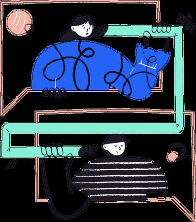 Social connection Illustration