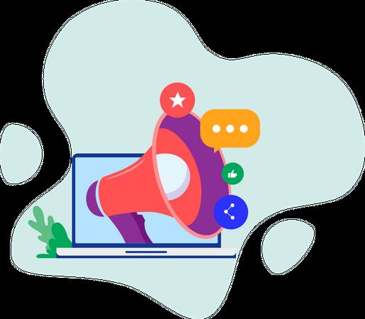 Social Marketing Illustration