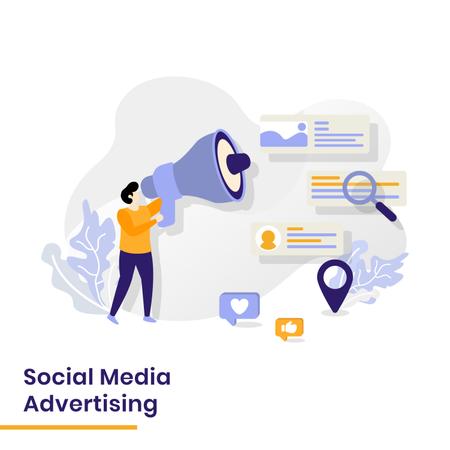 Social Media Advertising Illustration