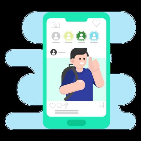 Social media Application Illustration