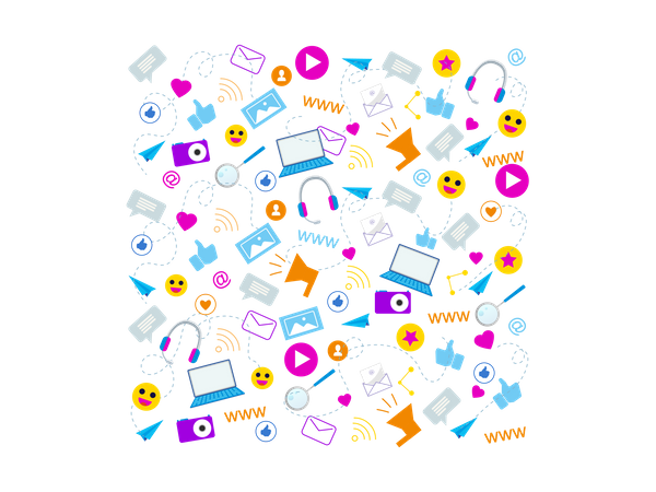 Social Media Communication Emoji Illustration