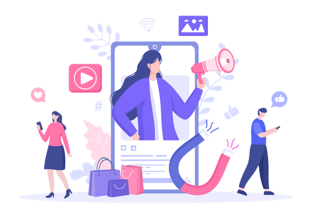 Social Media Influencer Illustration