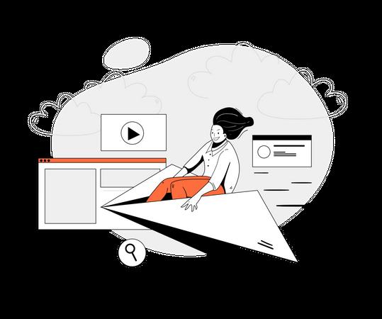 Social media marketing Illustration