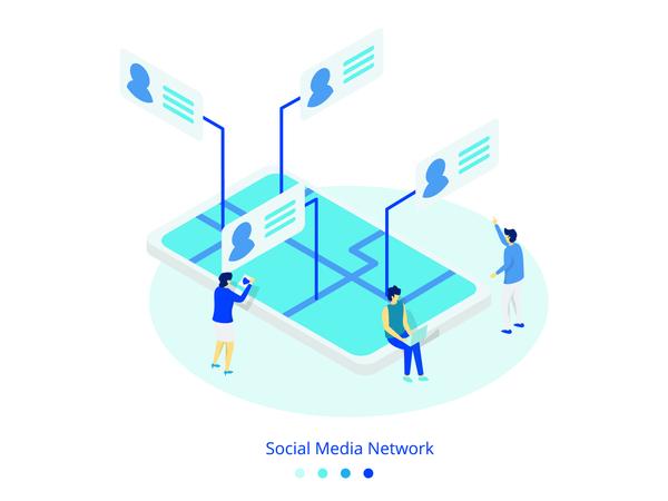 Social Media Network concept Illustration