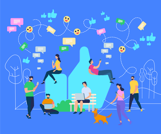 Social Network Illustration