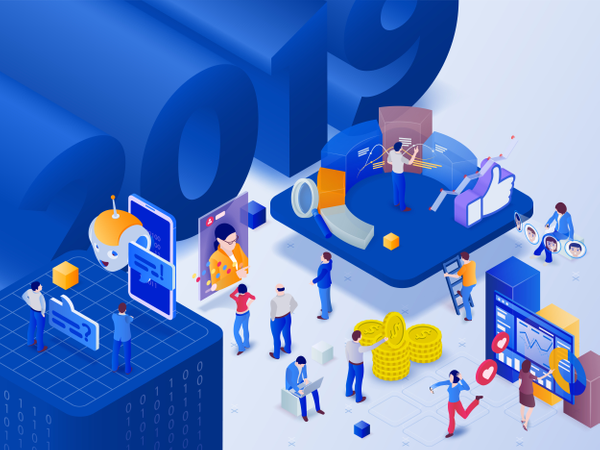 Social networks trends 2019 Illustration