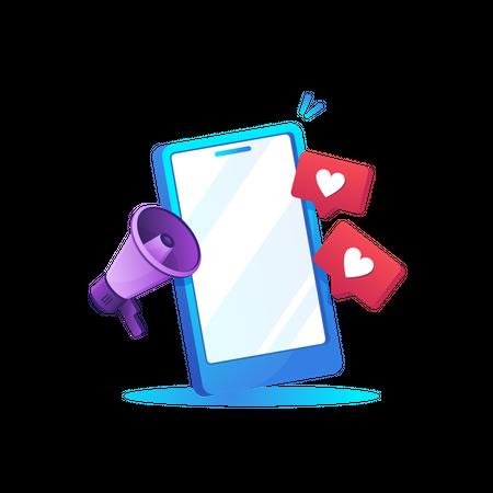 Social promotion Illustration