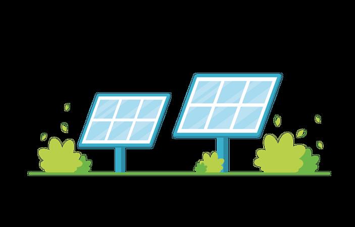 Solar panels Illustration