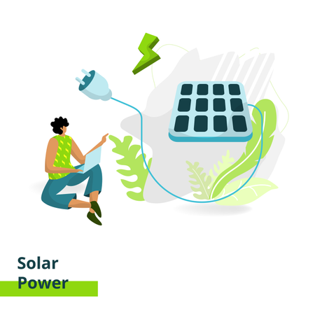 Solar Power Illustration