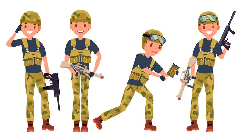Soldier Male Illustration