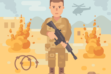 Military Service Illustrations Illustration Pack