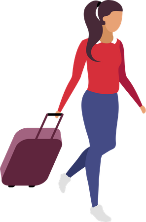 Solo travel for woman Illustration
