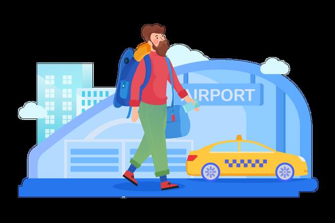 Solo traveler Illustration