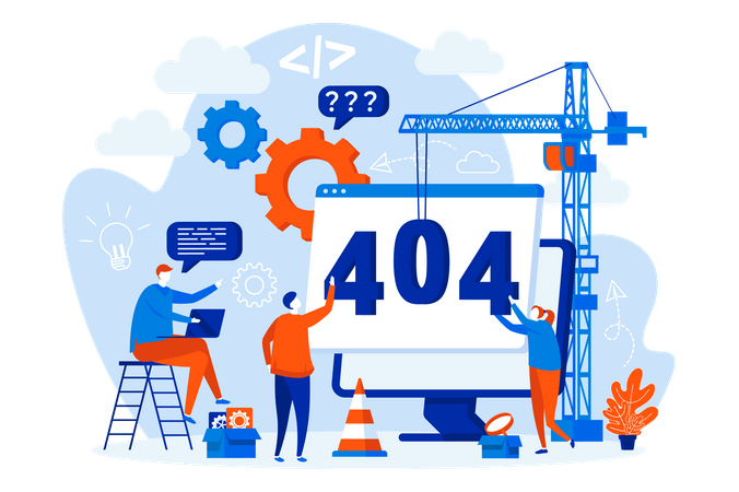 Solving page not found error Illustration