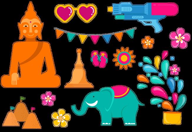 Songkran Festival Illustration