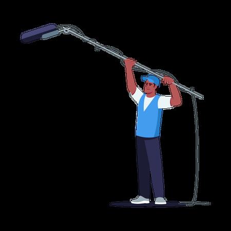 Sound engineer Illustration