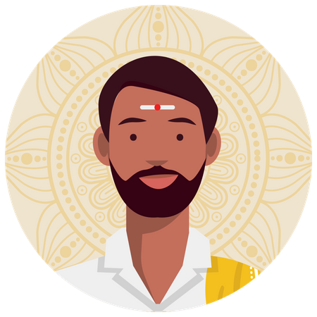South indian male Illustration
