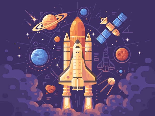 Space exploration concept Illustration