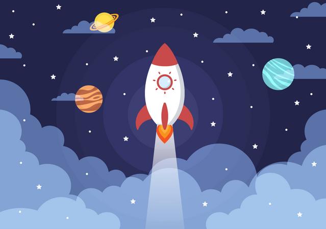 Space mission Illustration