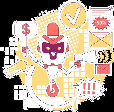 Spam bot Illustration