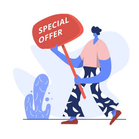 Special shopping offer Illustration