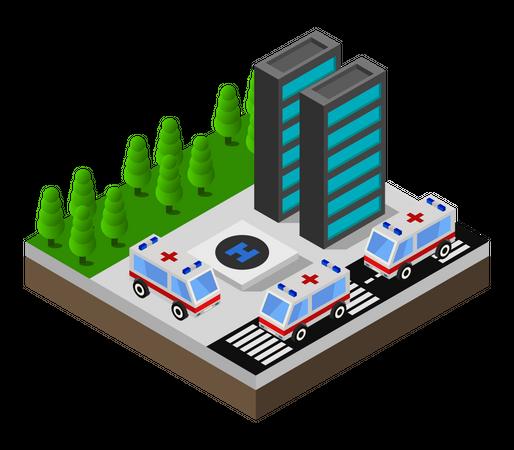 Specialist hospital Illustration