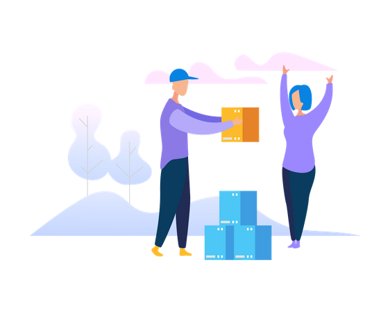 Speed delivery Illustration