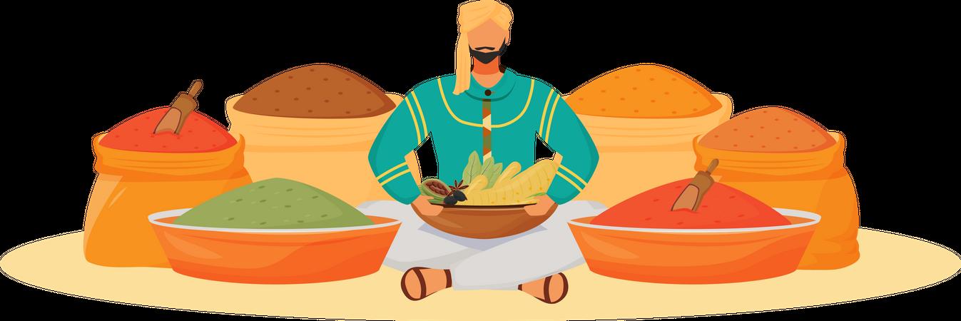 Spice shop Illustration