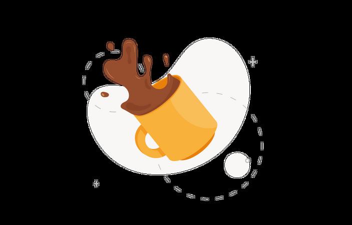Spilled coffee Illustration