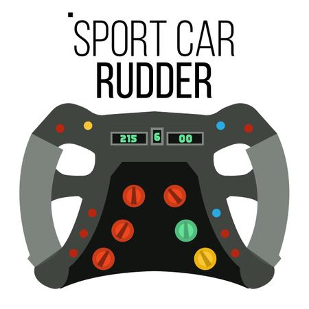 Sport Car Steering Wheel Illustration