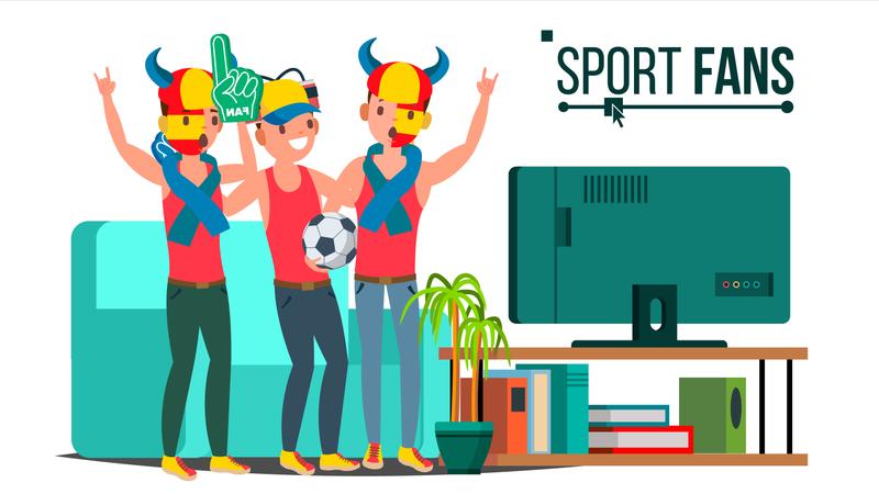 Sport Fans Group Illustration