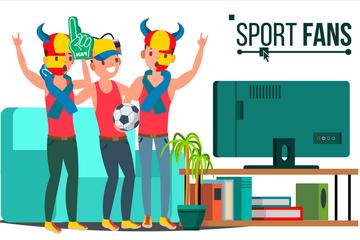 Sports Fan Illustration Pack