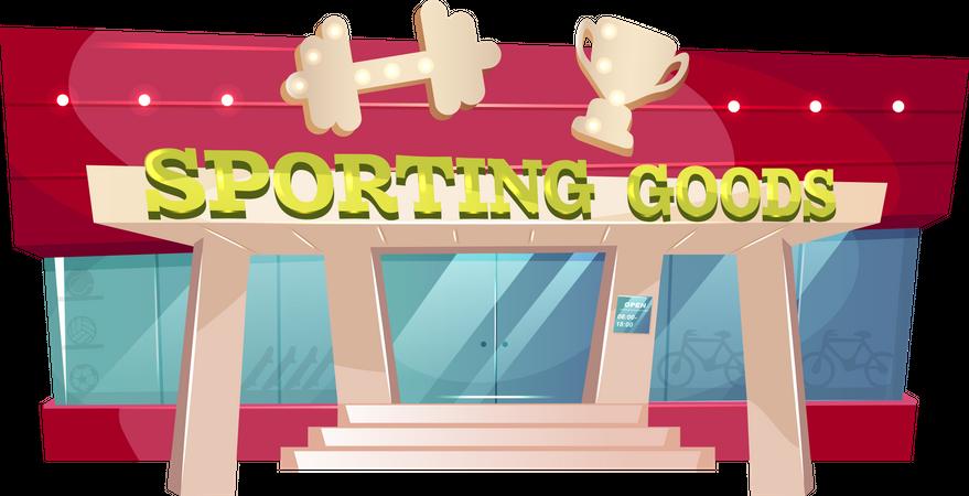 Sporting goods Illustration