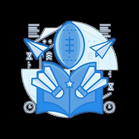 Sports Book Illustration