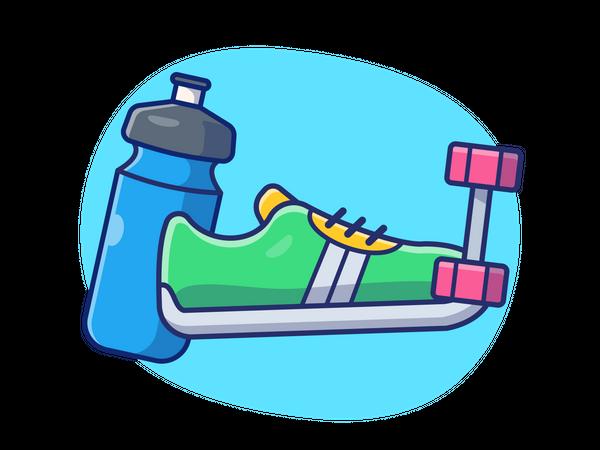 Sports shoes Illustration