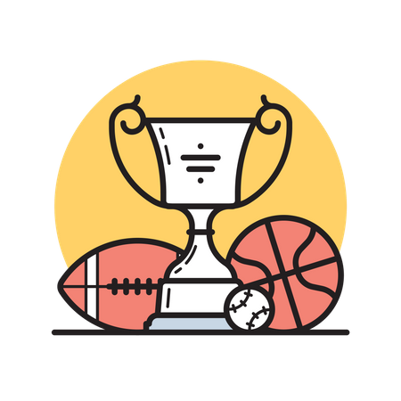 Sports trophy Illustration