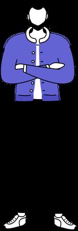 Standing man Illustration