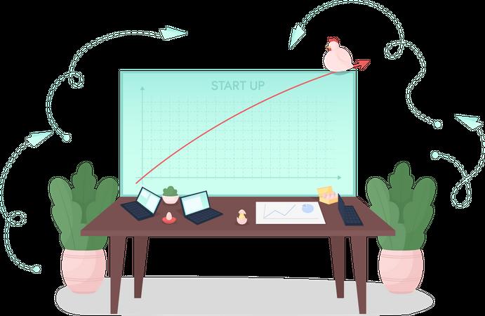 Start up development Illustration