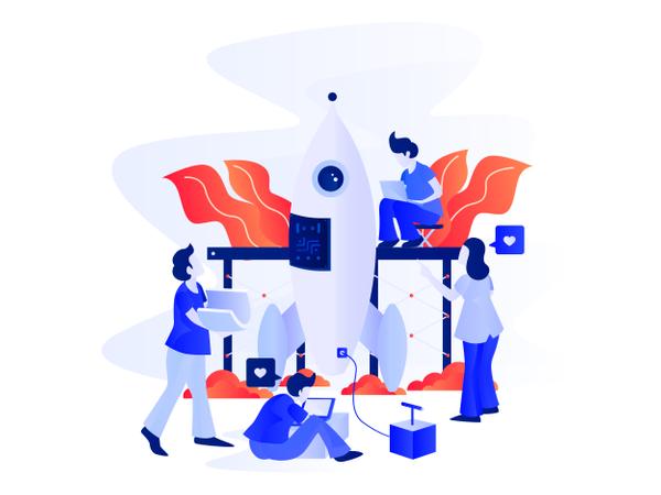 Startup Business Illustration