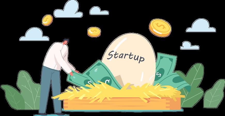 Startup Egg Illustration