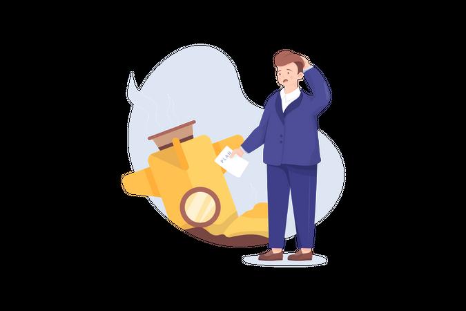 Startup Failed Illustration