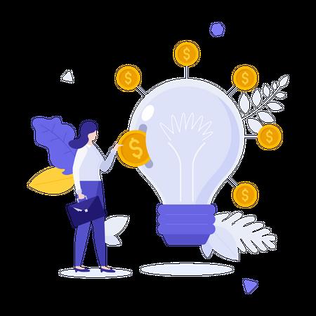 Startup funding Illustration