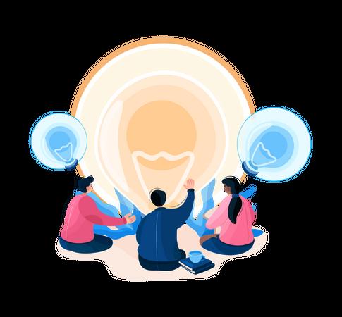 Startup idea Illustration