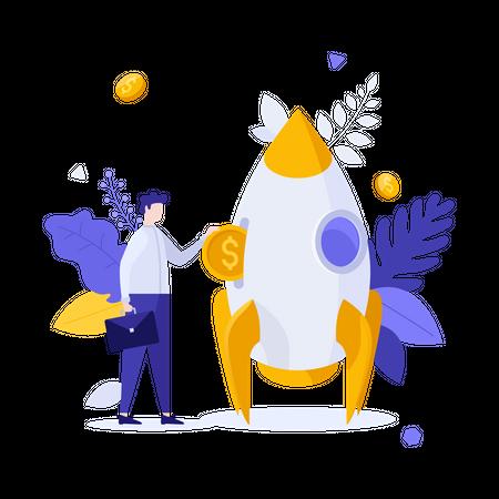 Startup investment Illustration