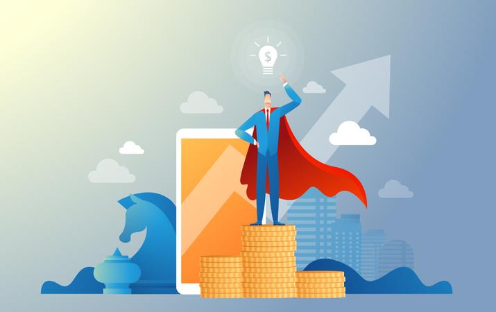 Startup Leader Illustration