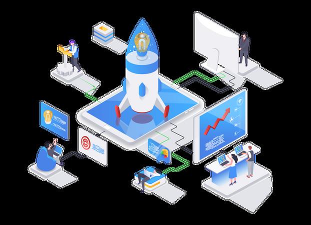 Startup project Illustration