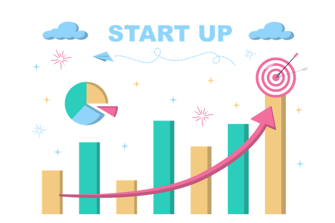 Startup Statistics Illustration