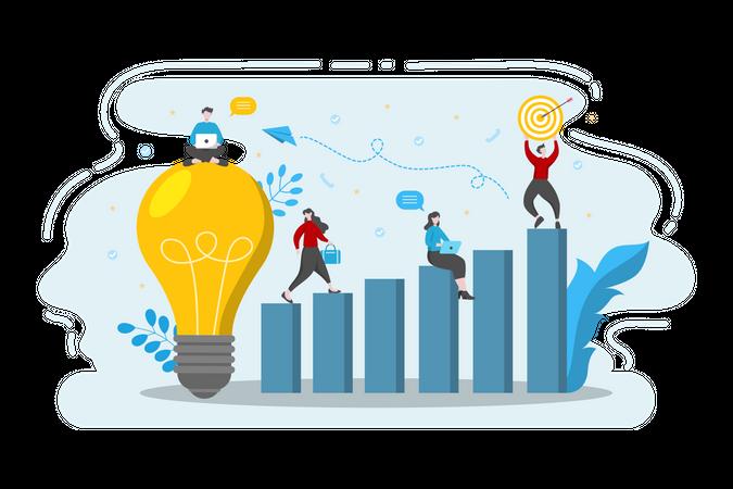 Startup strategy Illustration